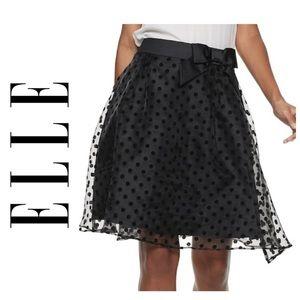 NWT ELLE Flocked Dot A-Line Skirt - 18